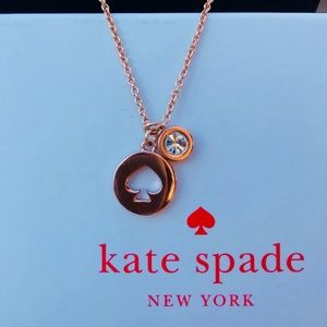 Kate Spade The Spade Chain Necklace Rose Gold